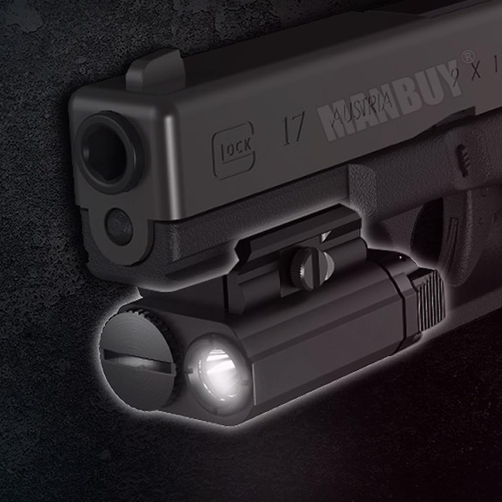 NITECORE NPL20 CREE XP-G3 S3 LED 460Lumen Weapon Light 1xCR123A Tactical Flashligh Outdoor Shoot Hun