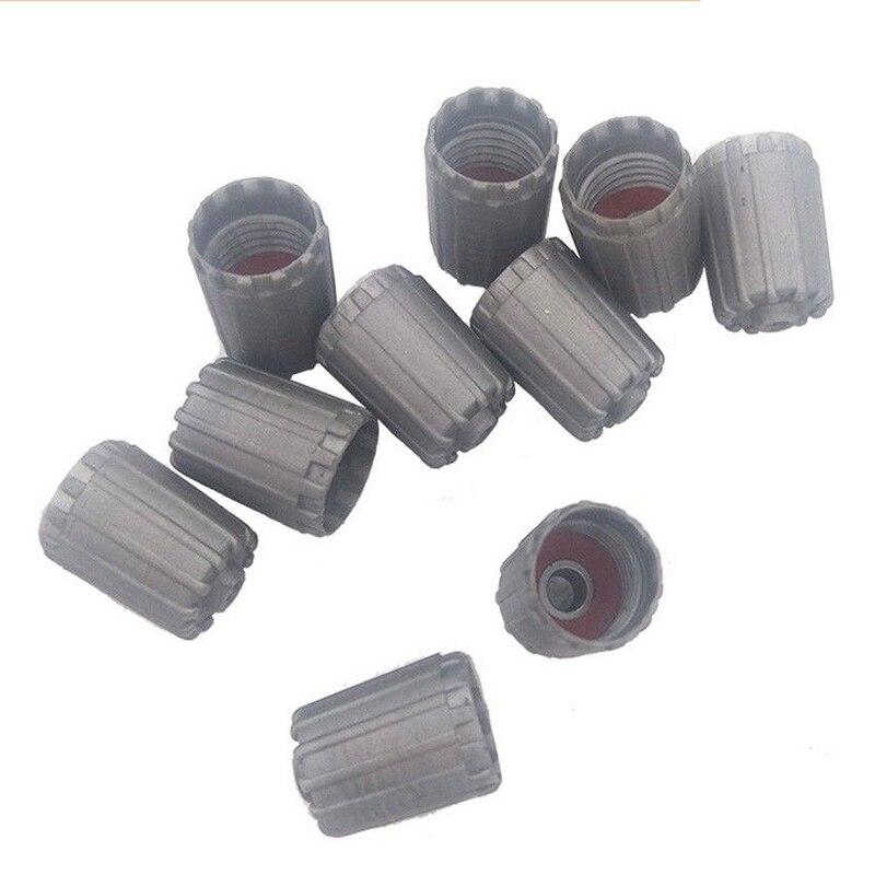 10 Uds. De plástico Gris neumático válvula vástago Tpms neumático tapa con junta para Nissan Toyota