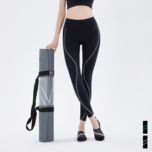Sports Leggings Women High Waist Sanded Lulu Yoga Pants Striped Color Matching Seamless Leggings Fitness Pants Tights Push Up