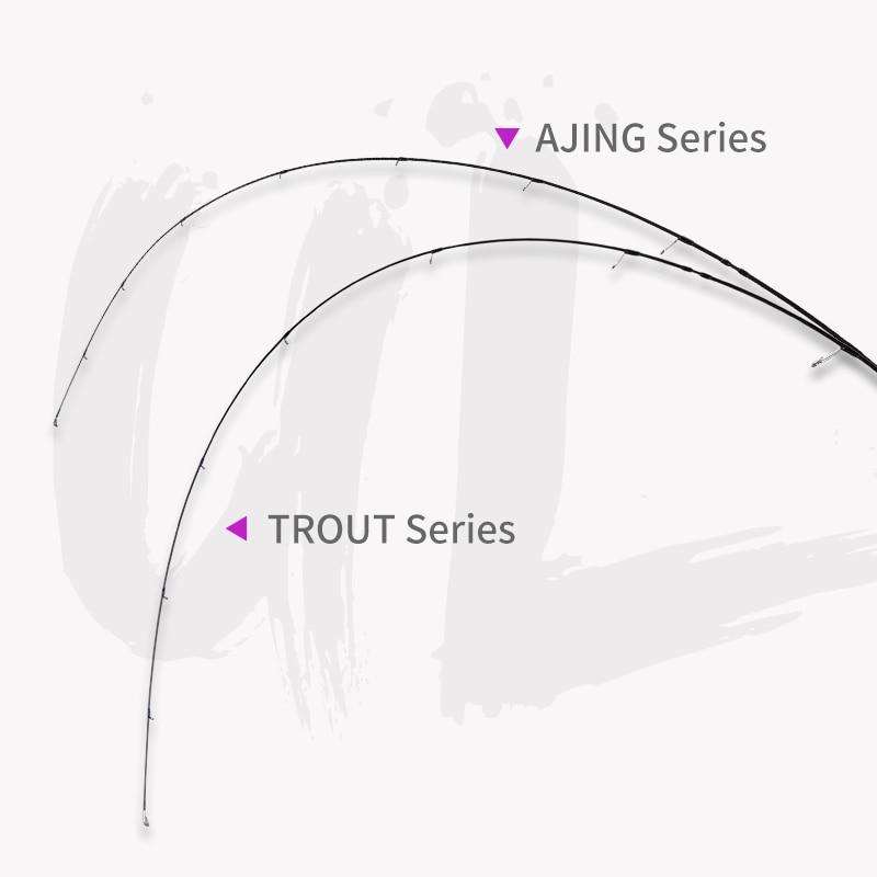 TSURINOYA AJING Rod ELF Fishing Rod Spinning Casting 1.8m 2.25m 2.46m 2 Section UL/L Carbon Rod FUJI Guide Rings Canne A Peche enlarge