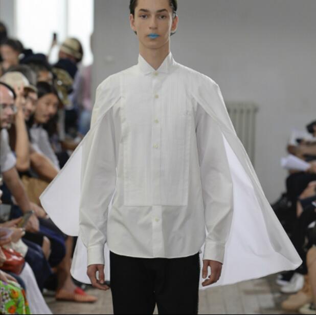 Модные брендовые рубашки, персонализированные рубашки, мужские рубашки в японском ретро стиле, модные рубашки с асимметричным швом, костюм...