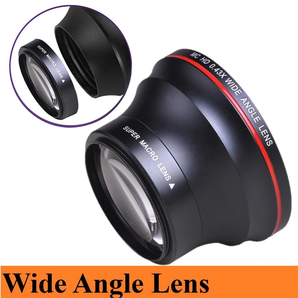 55MM 0.43x HD lente gran angular (porción Macro) para Nikon D3400, D5600...