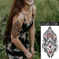 transfer stickers women egypt body decoration tato sleeve for men kit glitter fake tattoo for woman arm shoulder leg black henna