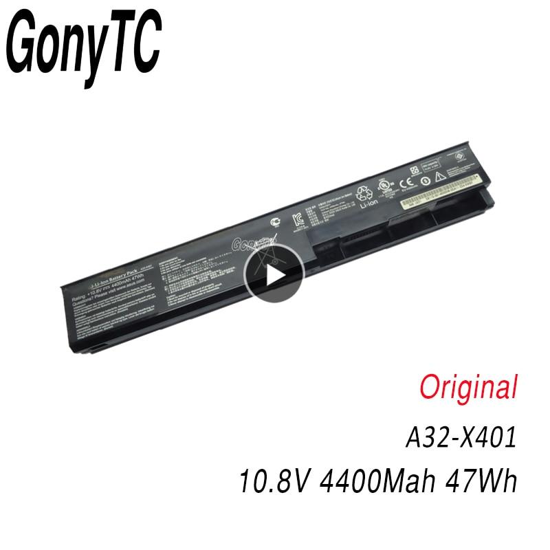 Original A32-X401 batería de portátil para Asus X301 X301A X401 X401A X501A A31-X401 A41-X401 A42-X401 cuaderno auténtico baterías