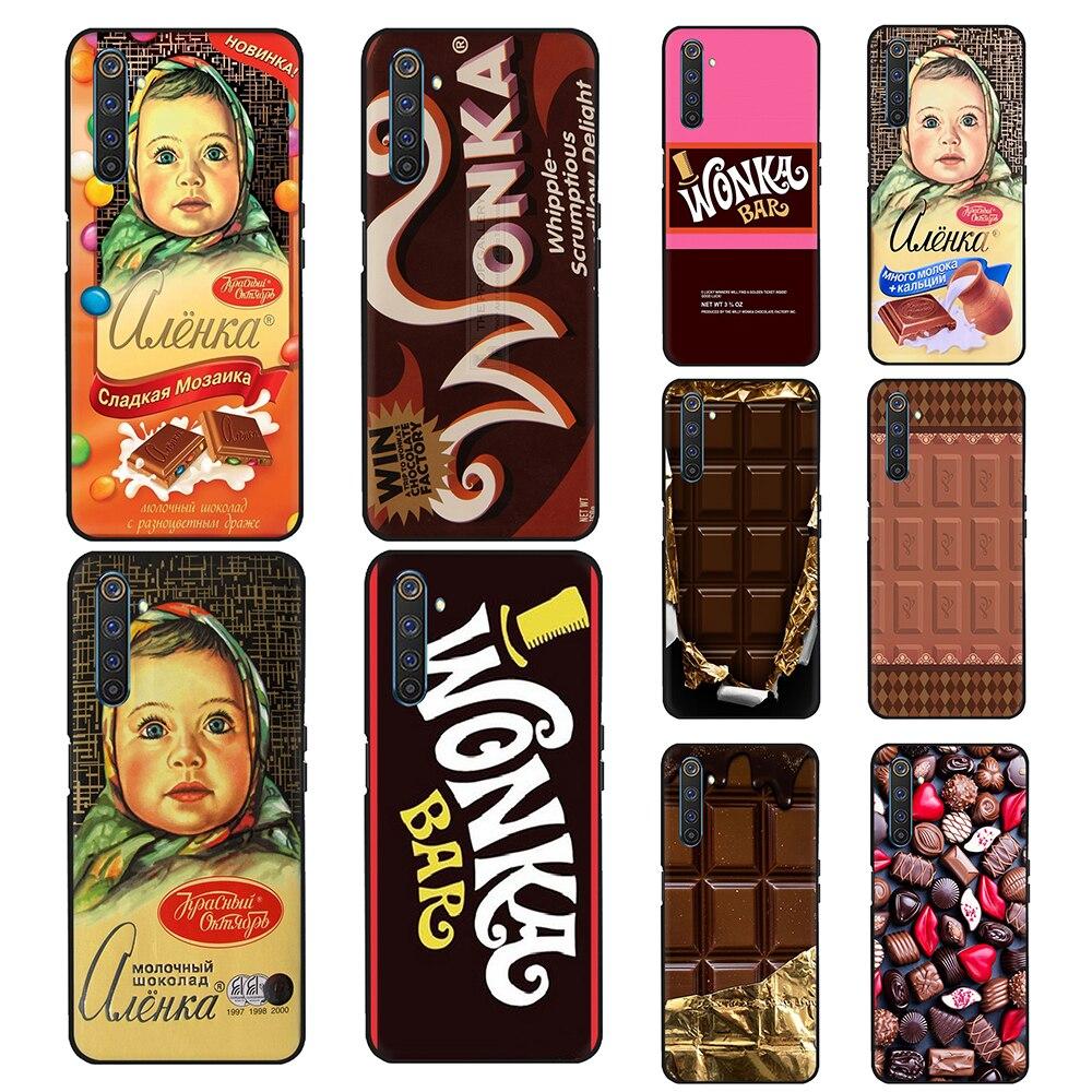 Chocolate de diseño de moda de la caja del teléfono de silicona para OPPO A8 A12 A31 A52 A72 A91 A92 A92S F15 encontrar X2 Pro verdadero yo C2 C3 6 Pro