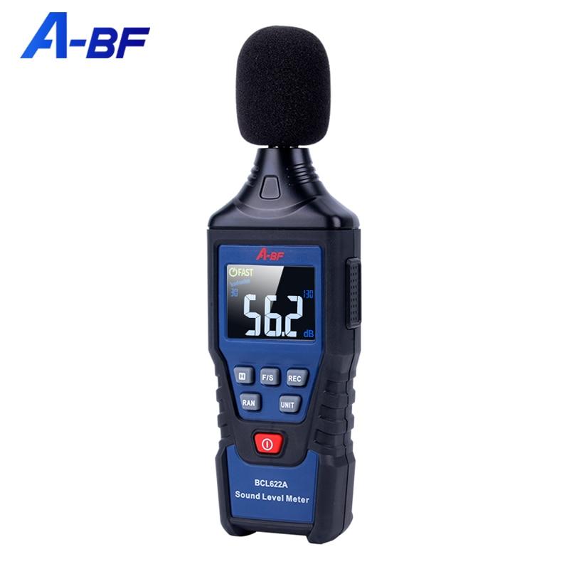 A-BF عالية الدقة الضوضاء متر كاشف ديسيبل أداة اللون شاشة الضوضاء تستر المهنية مستوى الصوت متر
