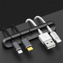 Siliconen Kabel Organisator Auto Draad Opslag Sb Kabel Houder Voor Muis Toetsenbord Oortelefoon Headset Auto Accessoires