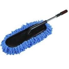 Auto Waschen Reinigung Pinsel Duster Staub Wachs Mopp Mikrofaser Teleskop Abstauben Werkzeug Mit Verstellbaren Langen Griff Blau