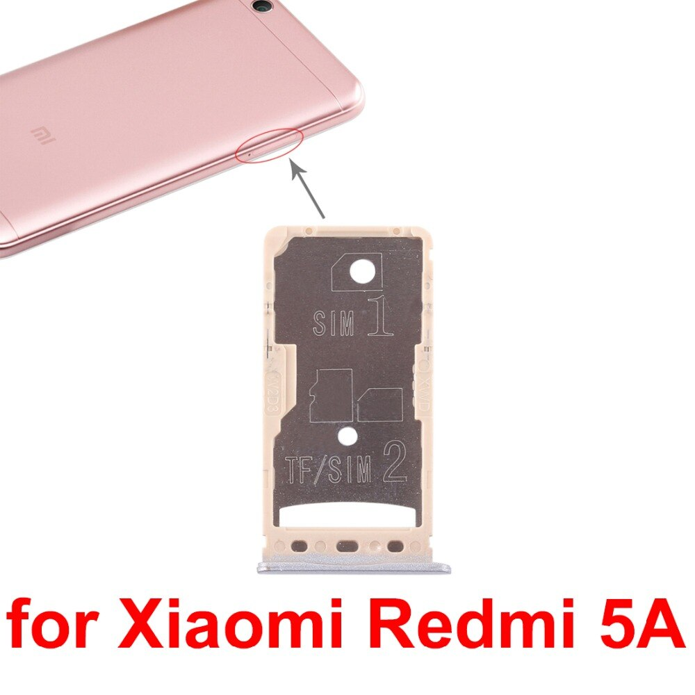 5pcs/lot SIM Card TrayMicro SD Card Tray For Xiaomi Redmi 5Redmi 5A enlarge