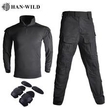 Camouflage tactique G3 uniforme militaire vêtements costume hommes US armée vêtements Airsoft militaire Combat chemise + Cargo pantalon genouillères