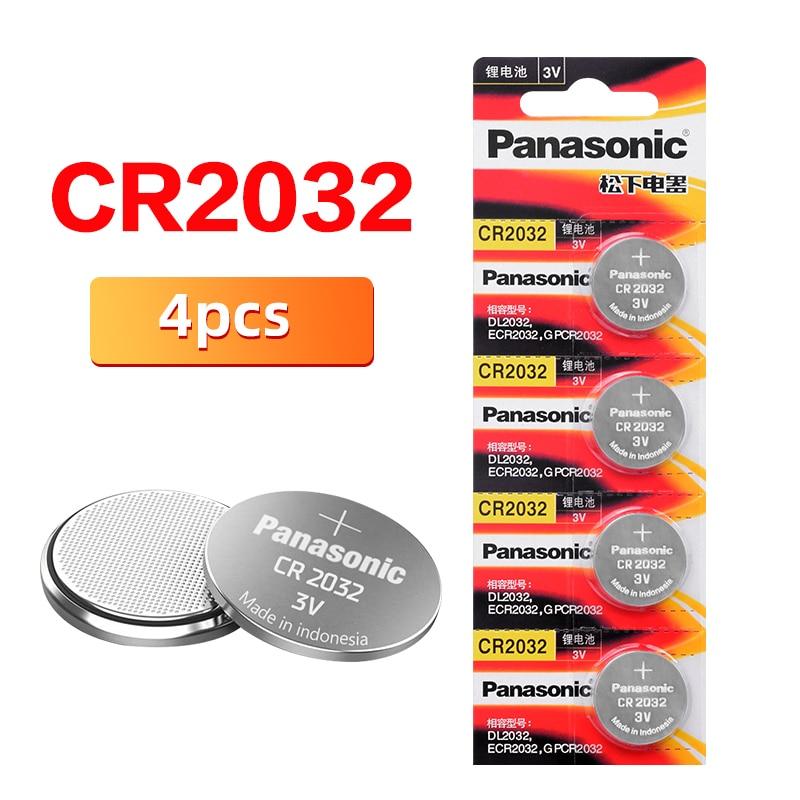 PANASONIC Original cr2032 4pcs Button Cell Batteries 3V Coin Lithium clocks watches Remote digital v