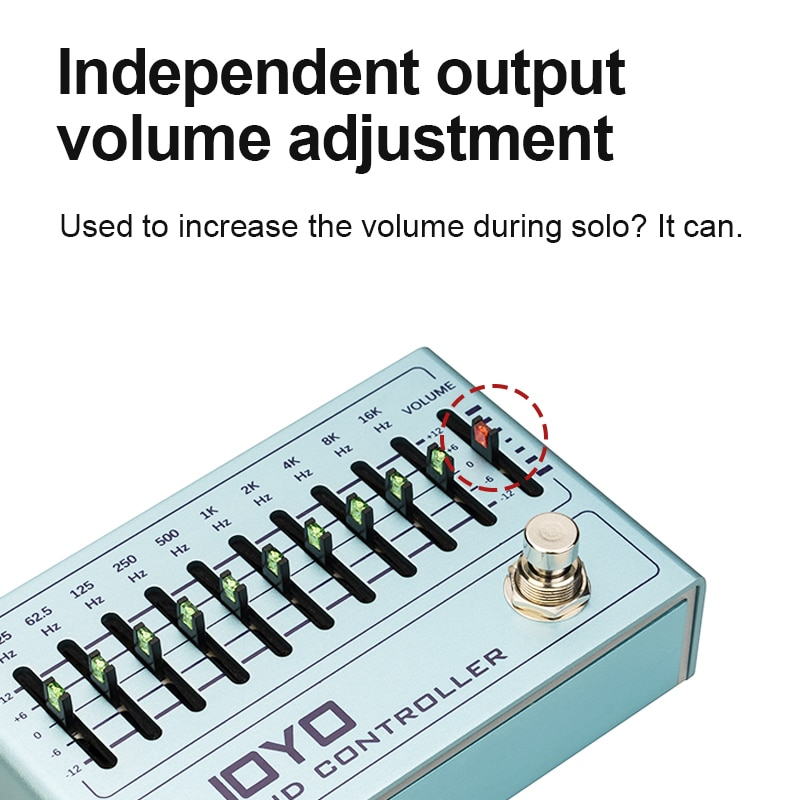 Band Controller Mini Effects Eq Equalization Electric Guitar Effects 10-Band Eq Pedal For Bass And Guitar Effects JOYO R12 enlarge