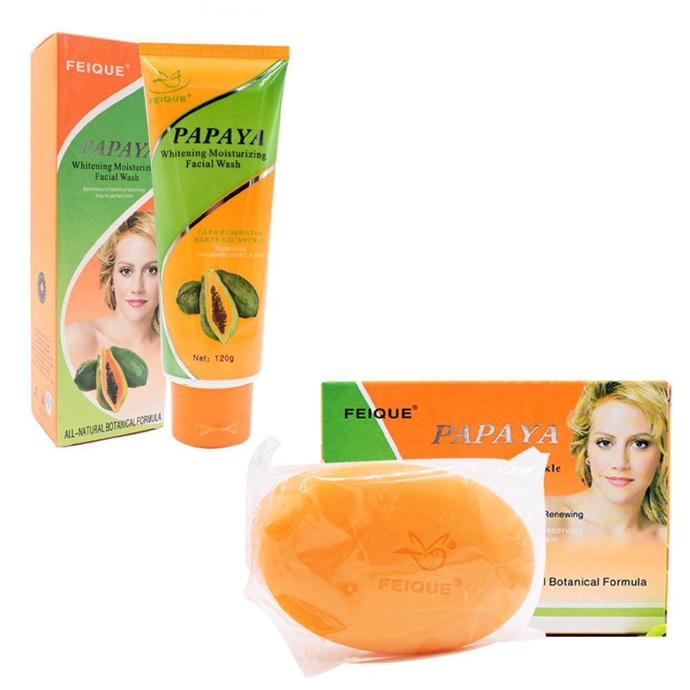 Skin whitening papaya soap whitening body skin bleaching soap cleanser cream rich in vitamin e