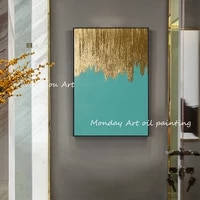 wall decor handpainted abstract gold oil painting home decor wall art canvas painting geometric artwork picture for living room