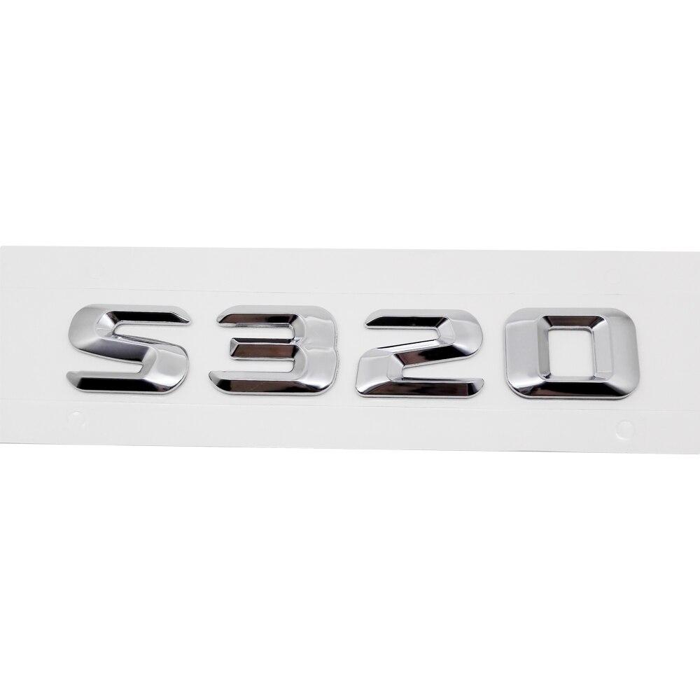 Dla Mercedes Benz 220SE W111 W116 W126 W140 W220 W221 W222 S320 samochodu tylna klapa emblematy Logo litery naklejki odznaka dekoracja