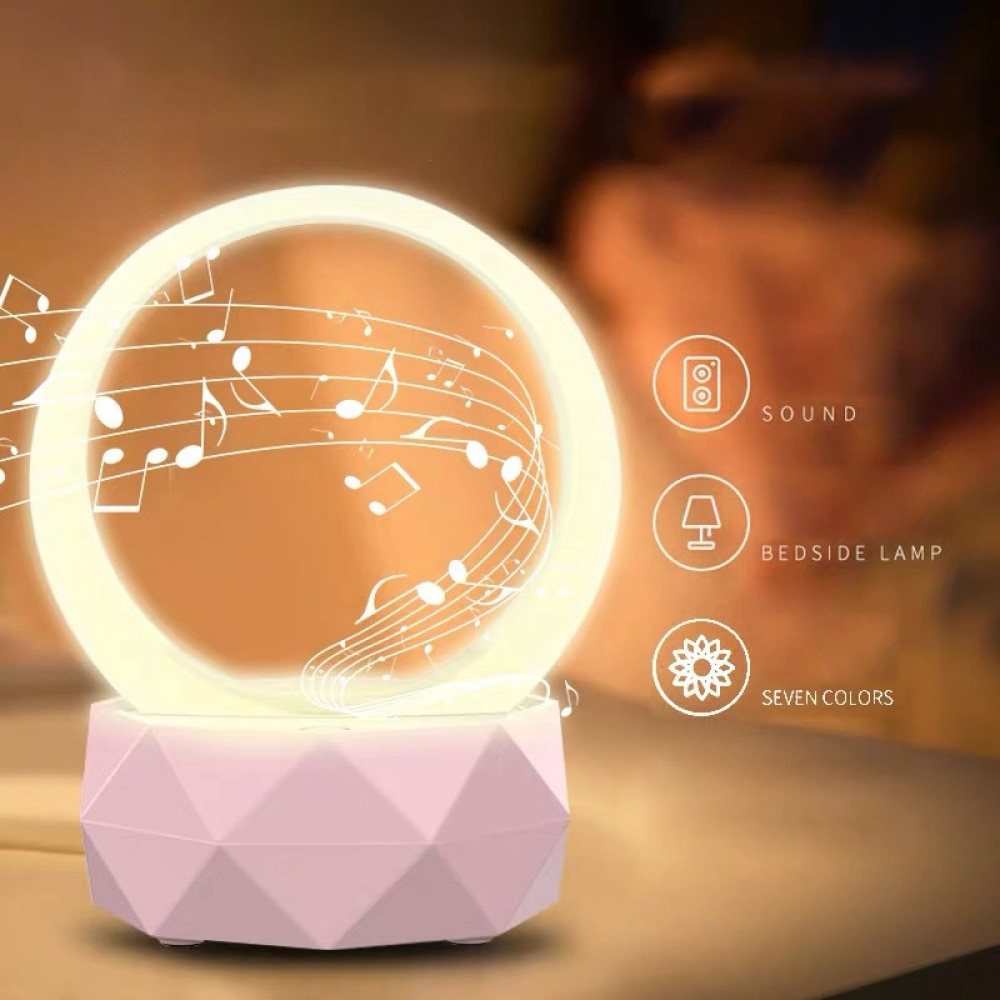 Mother And Baby Lamp Wireless Bluetooth Speaker Portable Subwoofer Audio Creative Colorful Light Smal