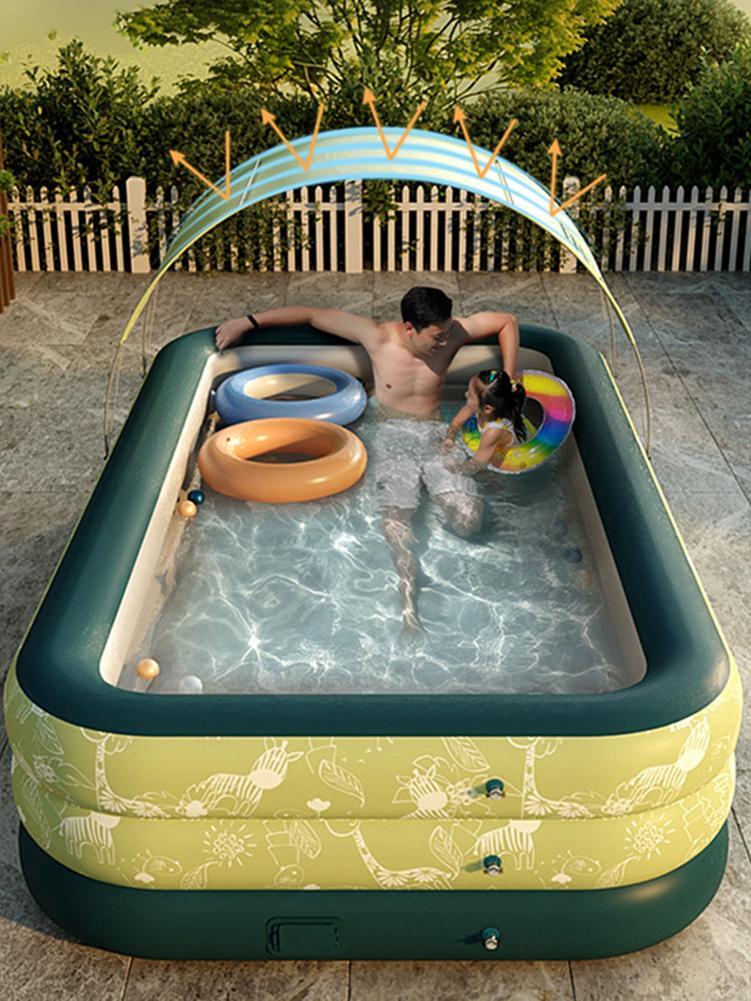 الصيف التلقائي التضخم اللاسلكية الطفل الطفل الكبار مضخة حمام سباحة رشاقته بك التجديف بركة الاستحمام حوض مع ظلة