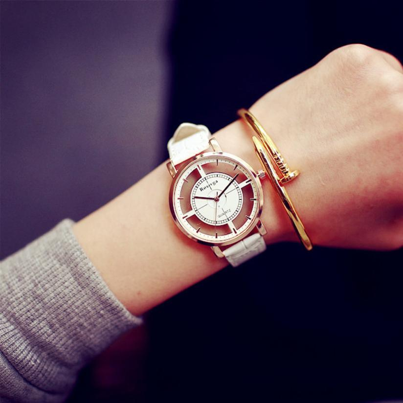Fashion Wrist Watch Womens Retro Design Leather Band Analog Alloy Quartz Wrist Watch 2019 Bracelet
