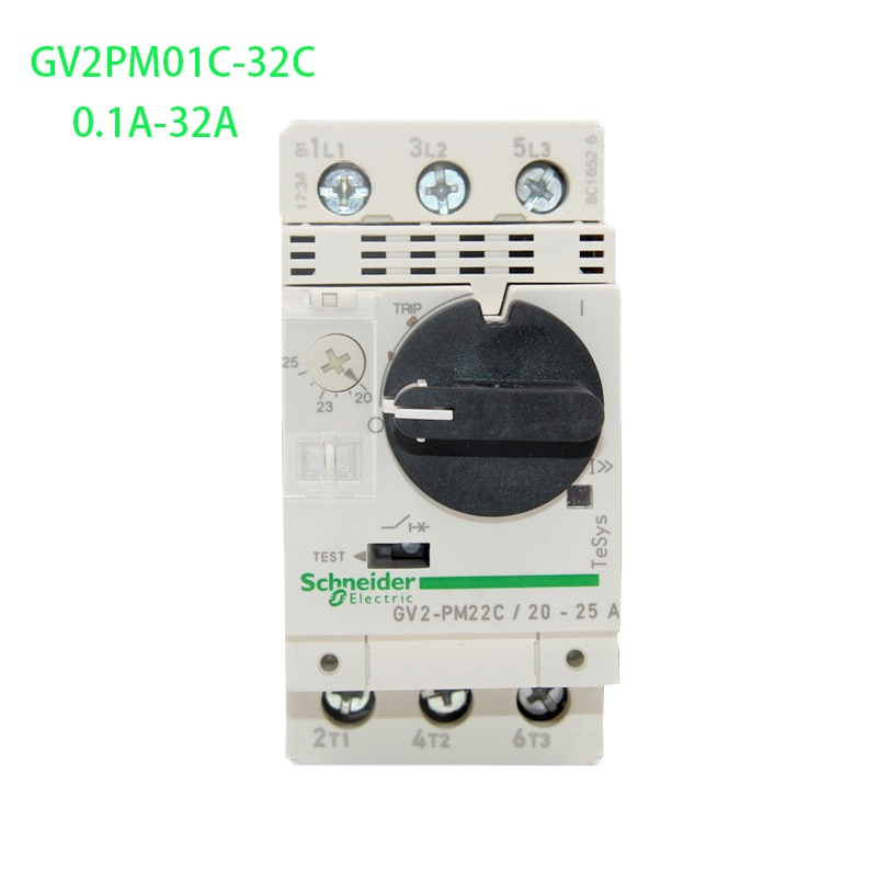 Original export 3P interruptor magnético térmico GV2PM01C-32C 0,1-32A Motor interruptor magnético térmico (Control)