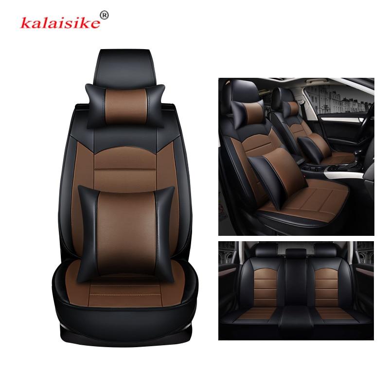 Kalaisike, cubierta universal de asiento de coche de cuero para Suzuki, todos los modelos swift sx4 grand vitara Kizashi S-CROSS VITARA Baleno, estilo de coche