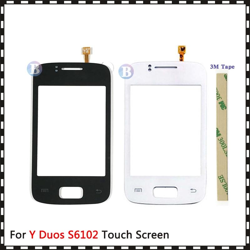 "Hohe Qualität 3.14 ""Für Samsung Galaxy Y Duos S6102 Touchscreen Digitizer Sensor Front Outer Glas Objektiv Panel + tracking"