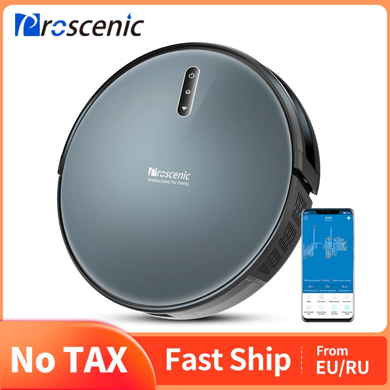 Proscenic 830P Robot Vacuum Cleaner, Wi-Fi and Alexa Control, with 350ML Water Tank, Efficient Cleaning and Mopping