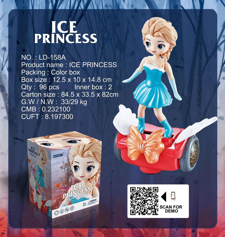 Congelado dança elétrica princesa boneca brinquedos elsa anna dol figura de ação rotativa projeção luz música modelo bonecas para a menina