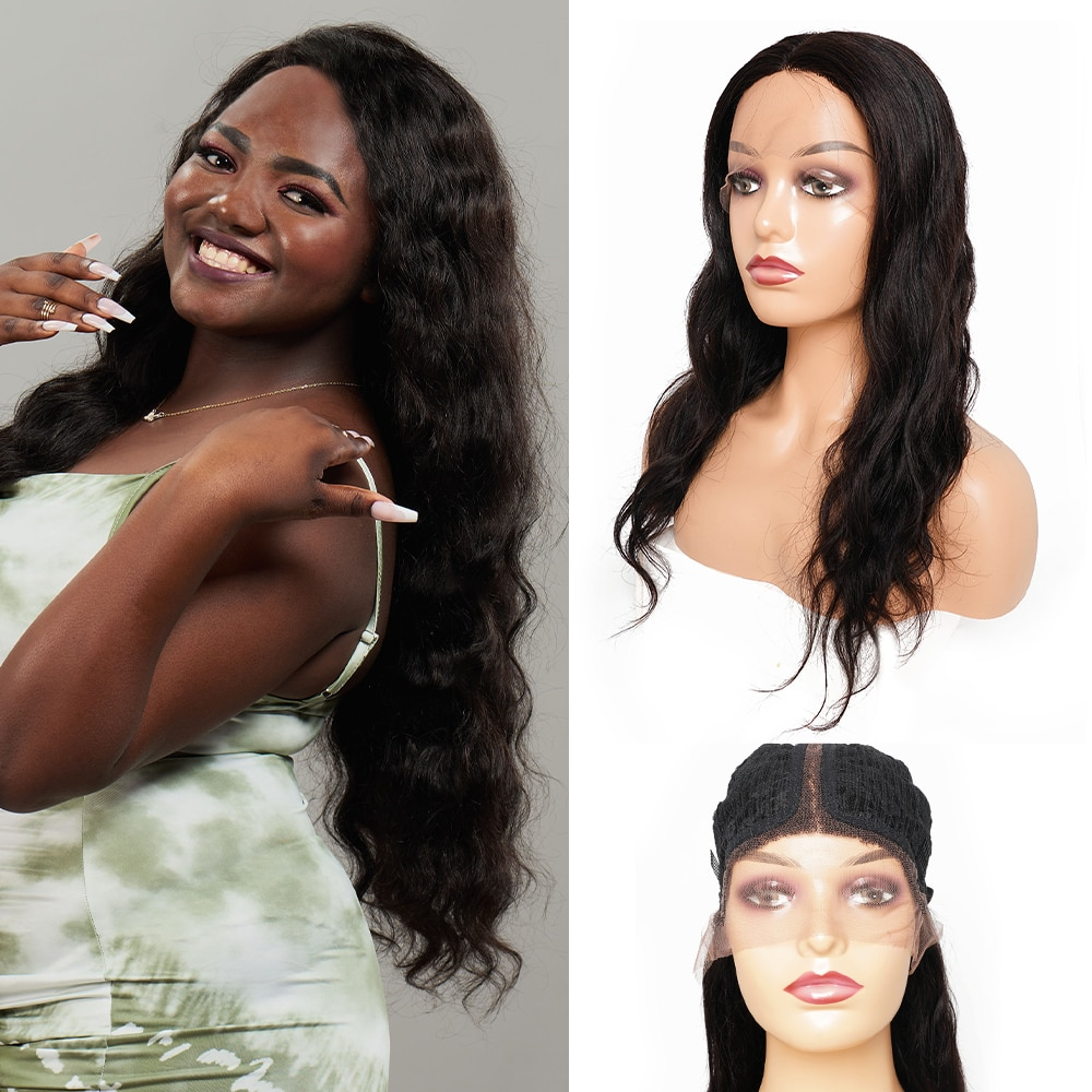 T Part Lace Wig Body Wave Remy Indian Human Hair Wigs 10-28 Inch Middle Part 13*1 Lace Front Wig for Wemon недорого