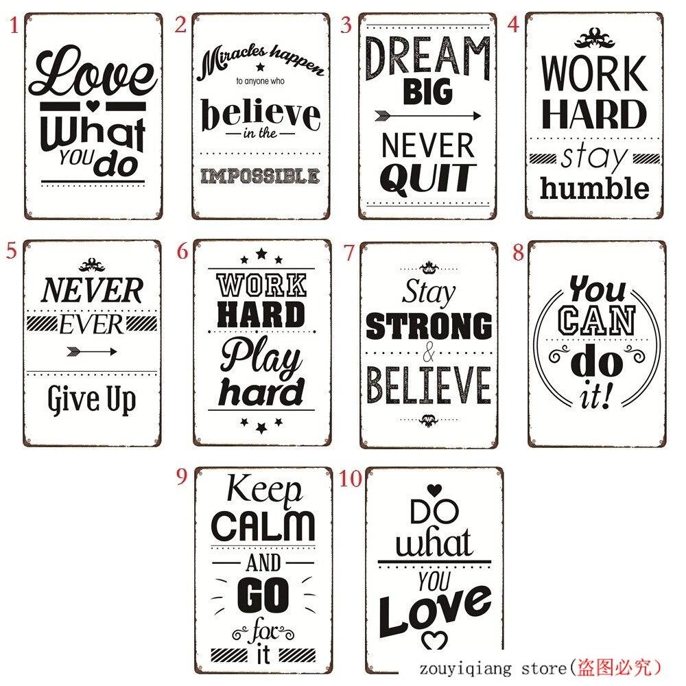 Черно-белый ретро металлический знак Life Quotes никогда не сбрасывающийся винтажный металлический постер, вдохновляющий Железный постер, Наст...