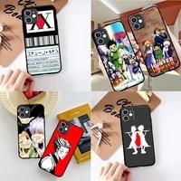 phone cover for iphone 12 11 pro max x xs xr 7 8 7plus 8plus 6s se2 etui hisoka hunter x hunter killua zoldyck anime case funda