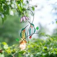 Suncatcher     pendentifs de fenetre artistique  decoration de maison  oiseaux  ornements teintes pour fenetre