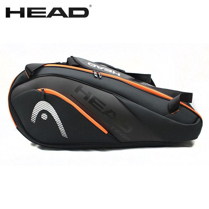 HEAD Tennis Bag Waterproof Large capacity 6-9 racket badminton bag Men Women profession training squash padel racquet Backpack