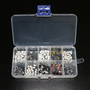 250Pcs/lot 10Values Tactile Push Button Switch Car Remote Control Keys Button Touch Microswitch 4*4 3*6 3*4