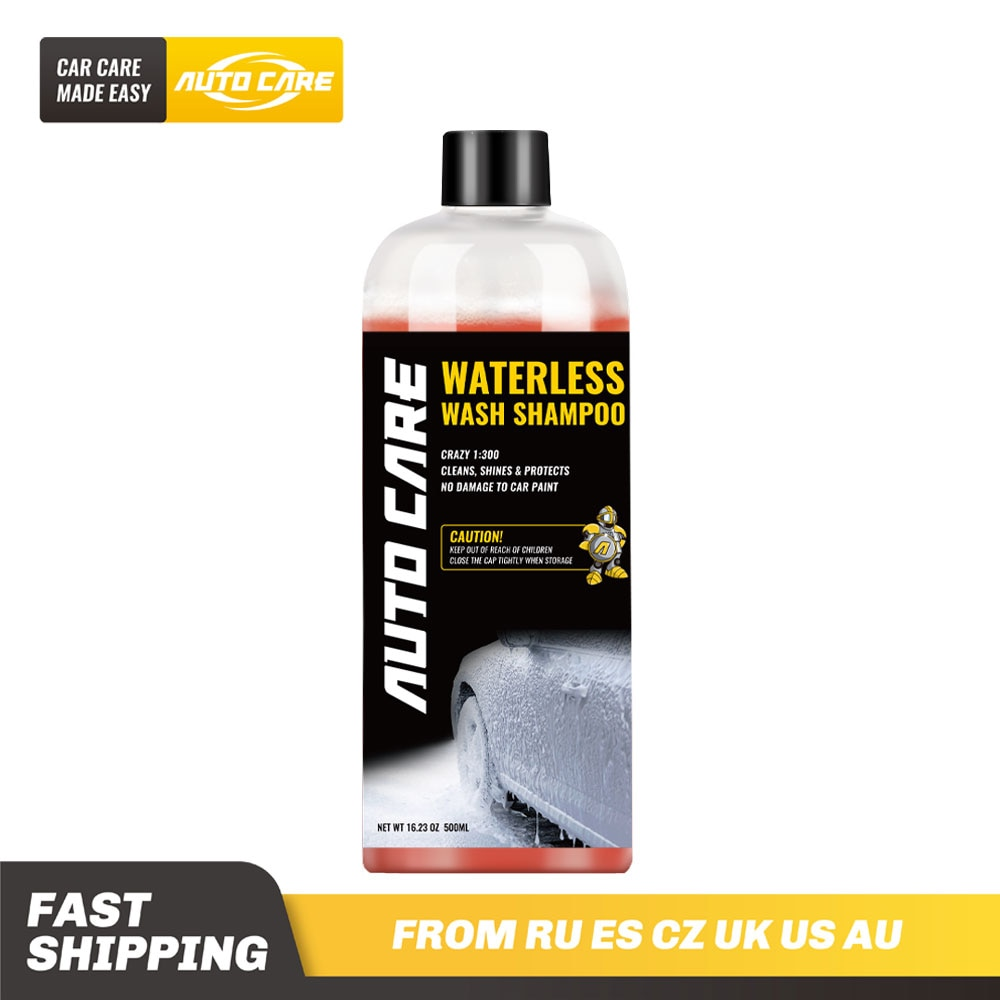 500ml Waterless Car Wash and Wax Shampoo Concentrated 1:300 Snow Foam in a foam cannon or foam gun недорого