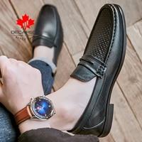 Leather Men Shoes 2021 New Autumn Loafers Fashion Shoes Men Comfy Luxury Brand Men's Flats Design Man Footwear Men Casual Shoes