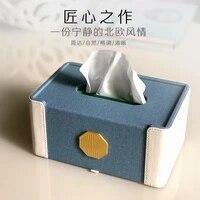 modern leather tissue boxes table classic luxury tissue boxes home decoration cajas de almacenamiento storage containers bk50zj