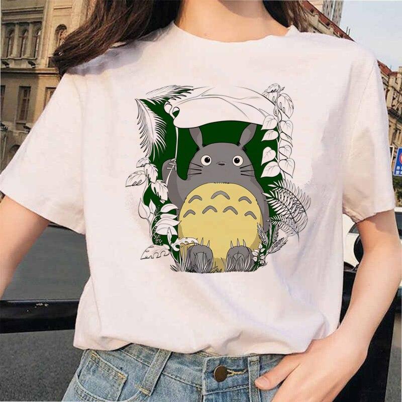 Totoro t camisa das camisas das mulheres camiseta superior t spirited away studio ghibli kawaii 90s gráfico harajuku miyazaki hayao roupas