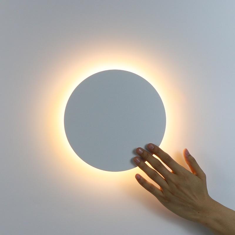 وحدة إضاءة LED جداريّة الخفيفة مع اللمس التبديل غرفة نوم السرير الجدار مصباح داخلي درج الإضاءة تجهيزات الإضاءة الحديد والاكريليك المواد 11 واط