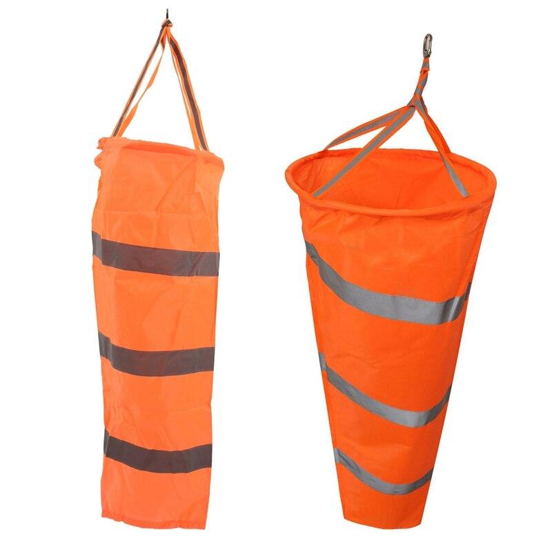 2x100cm/80cm aviación Windsock Rip-Stop Medición del viento calcetín bolsa + cinturón reflectante