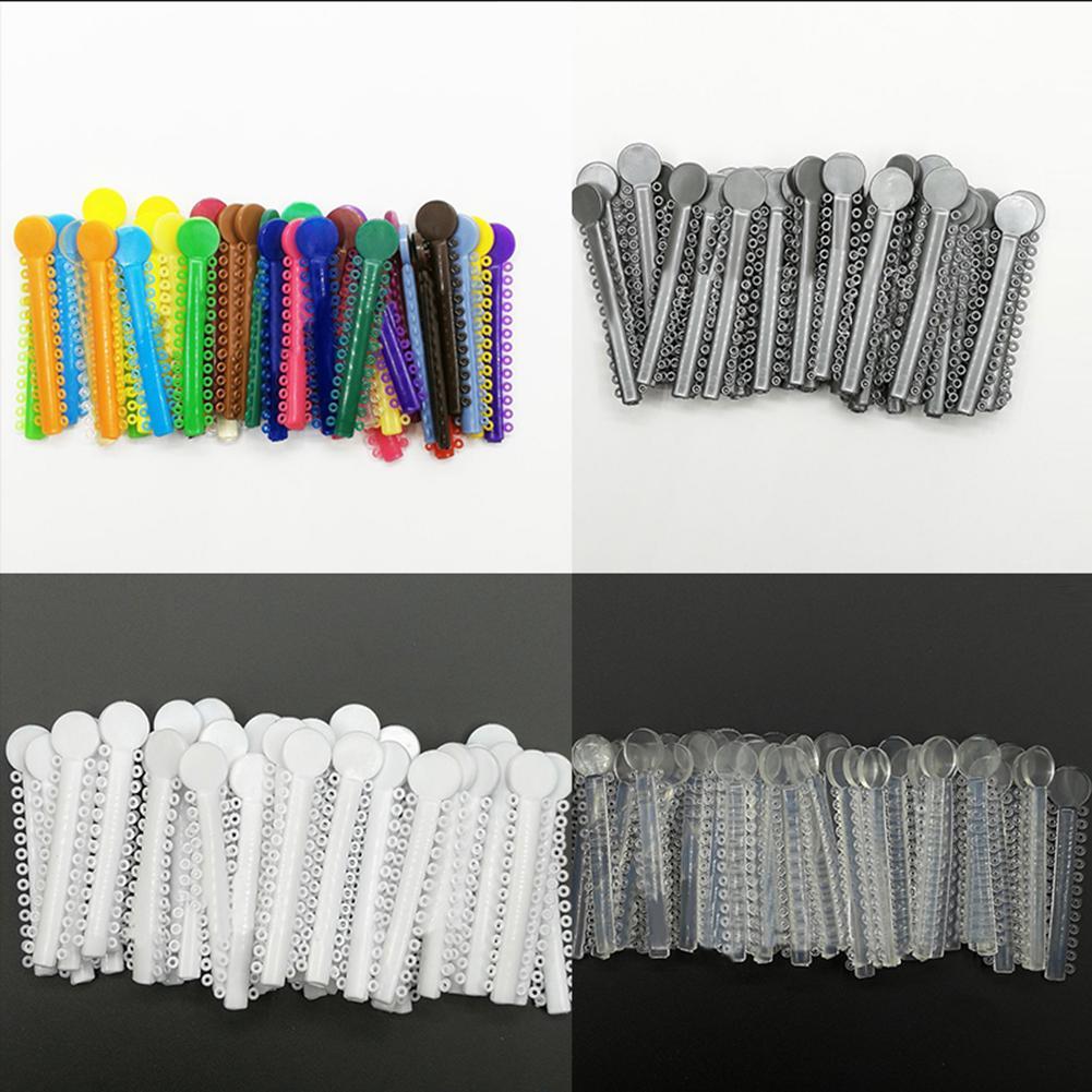 40 pces dental ortodôntica ligadura oral laços elásticos borracha bandas dentista ferramentas