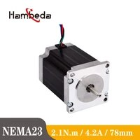 nema23 2 1n m 1 8 degree 4 2a 2 31v 78mm 4 lead stepper motor motor cnc milling machine 3d printer