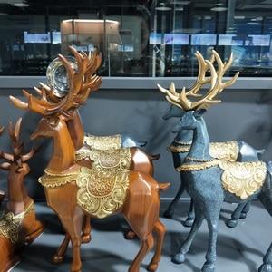 Crystal ball base Resin Deer Figurine Display Stand Photography Lensball Base Magic Sphere Holder Christmas Ornament Statue