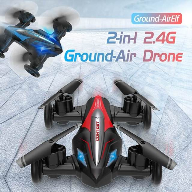 Eachine D85 2in1 Dron Air-Ground Flying Car 2.4G Dual Mode Racing Mini Drone Professional RC Car Quadcopter Drones Children Toys 6