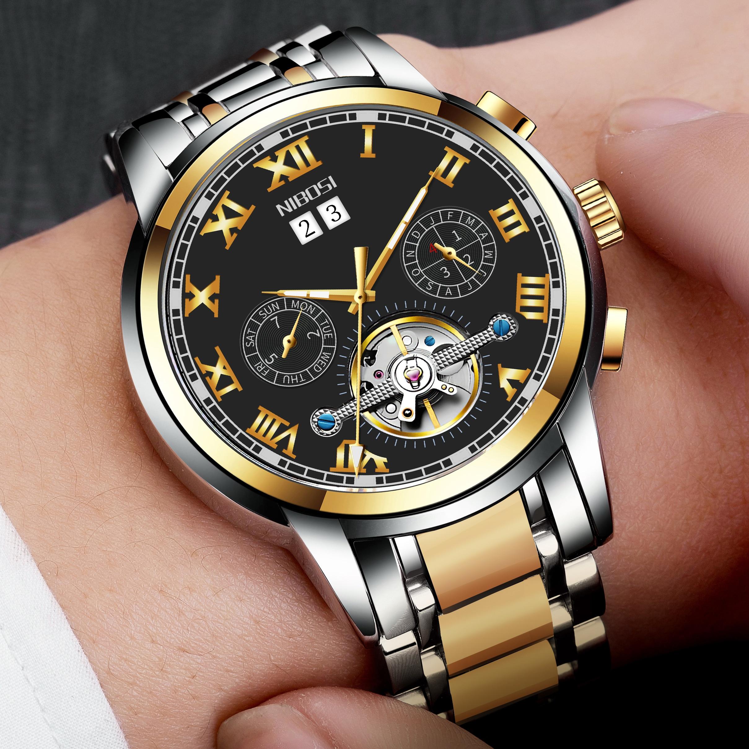 نيبوسي-ساعة ميكانيكية ، فاخرة للرجال, أفضل ساعات فاخرة ، أوتوماتيكية ، فاخرة ، ساعة يد رياضية للرجال ، ساعة توربيون للرجال