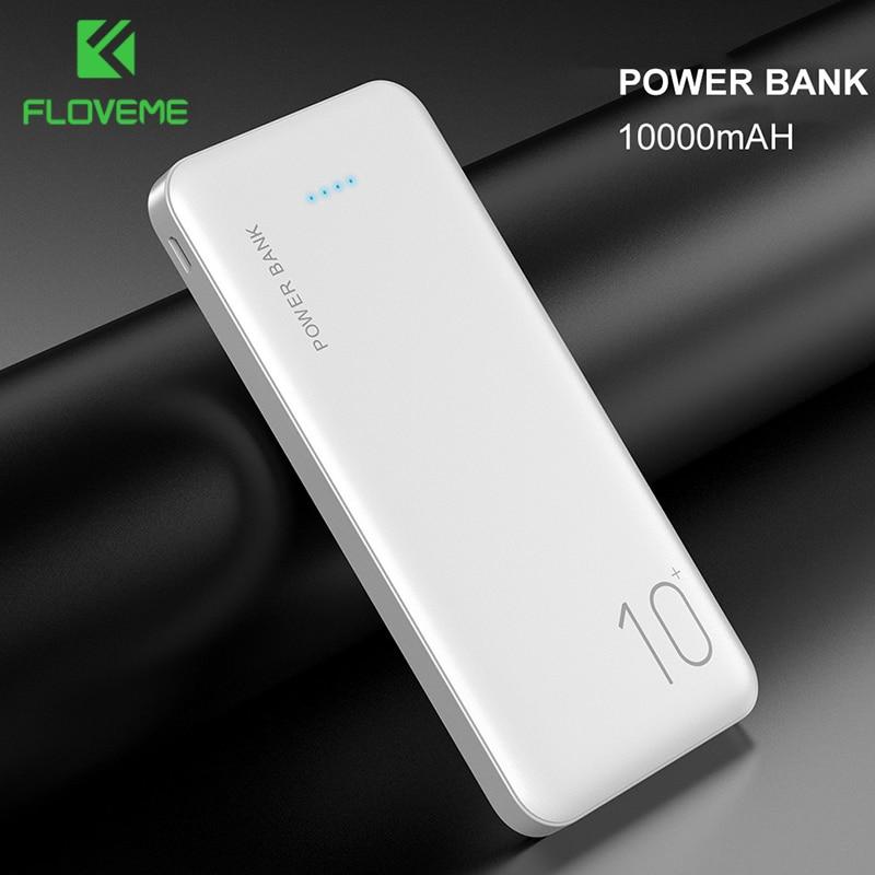 FLOVEME Power Bank 10000mAh Portable Charger For Samsung Xiaomi mi Mobile External Battery Powerbank