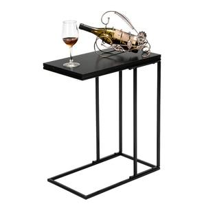tea table for office coffee magazine shelf small table single-layer living room table room furniture black iron base