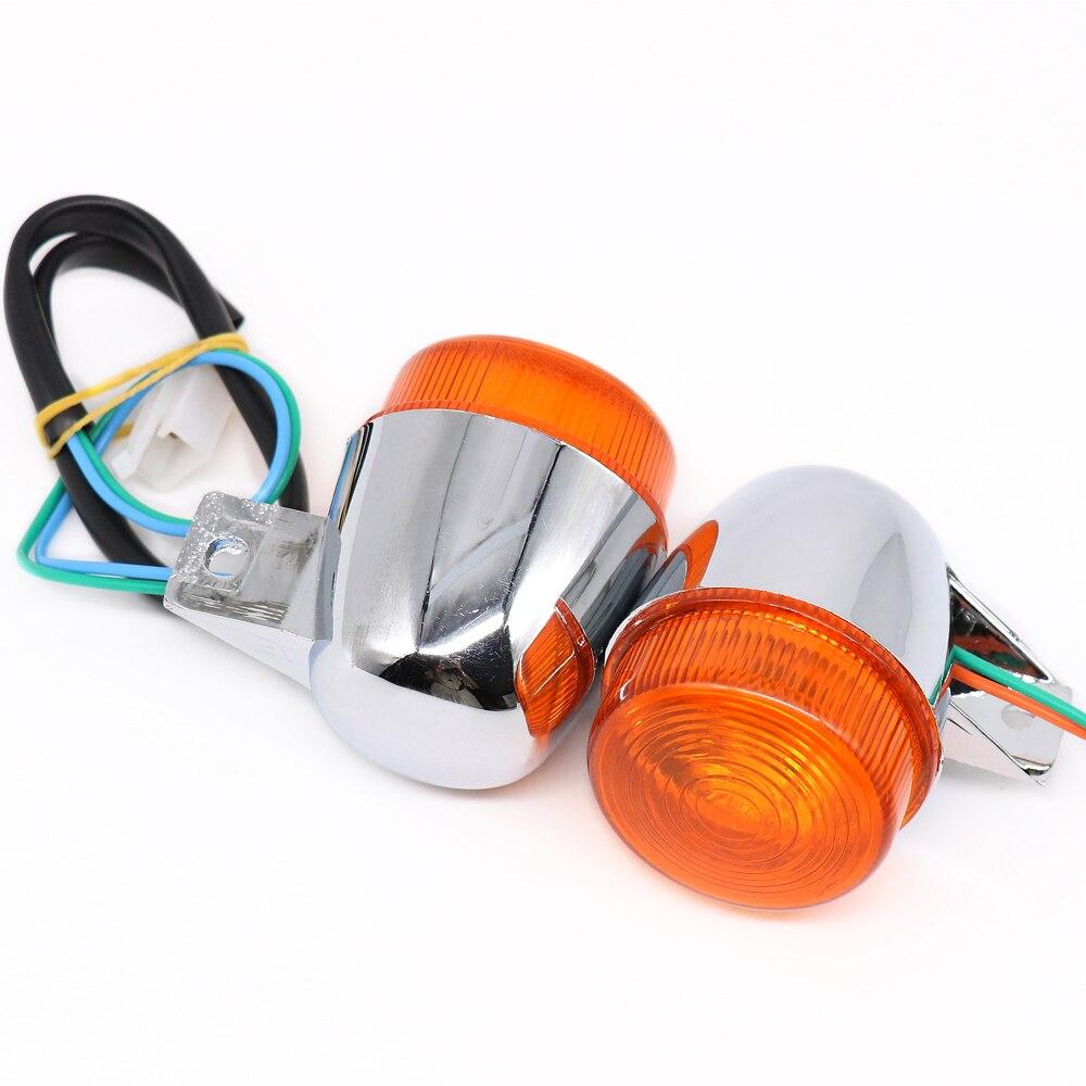 2 uds. Accesorios eléctricos para coche motocicleta gran tortuga rey intermitente scooter dirección delantera luz trasera montaje