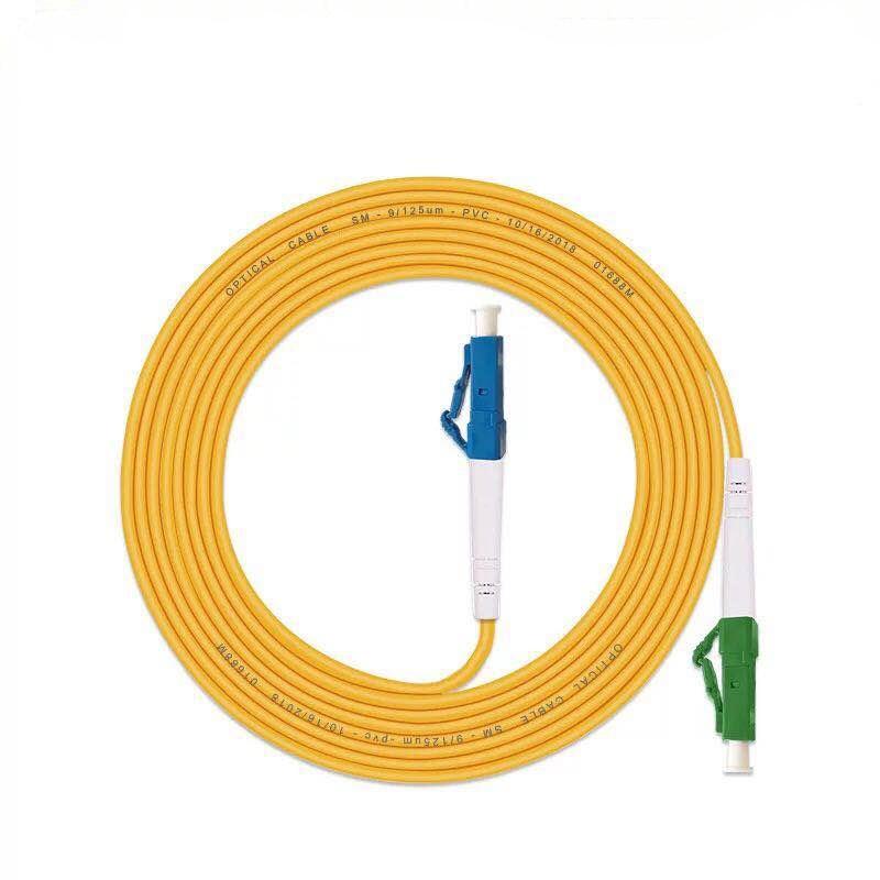 5 unids/bolsa LC/APC-LC/UPC Cable de conexión de fibra óptica modo simple de...