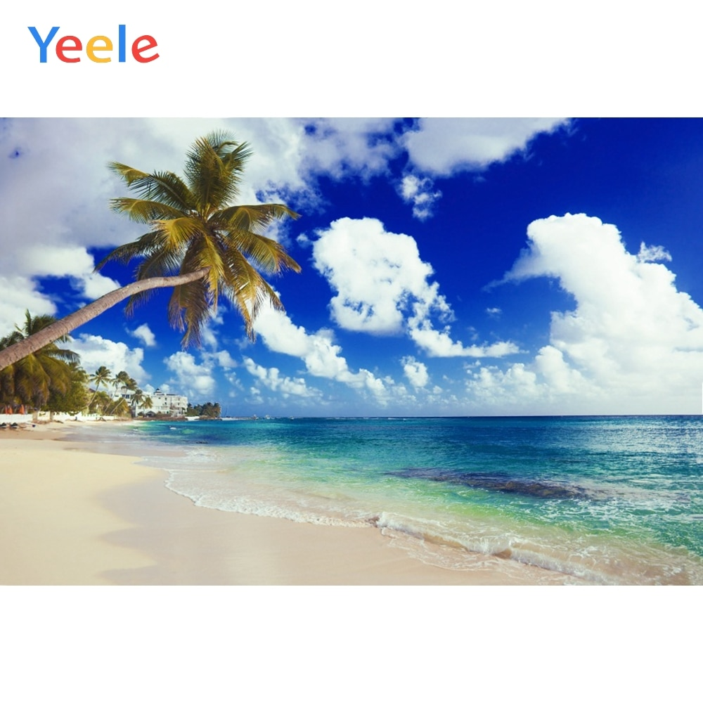 Fondo Yeele para fotografía playa fiesta cielo nube verano playa fondo fotográfico sesión fotográfica Photocall Photophone