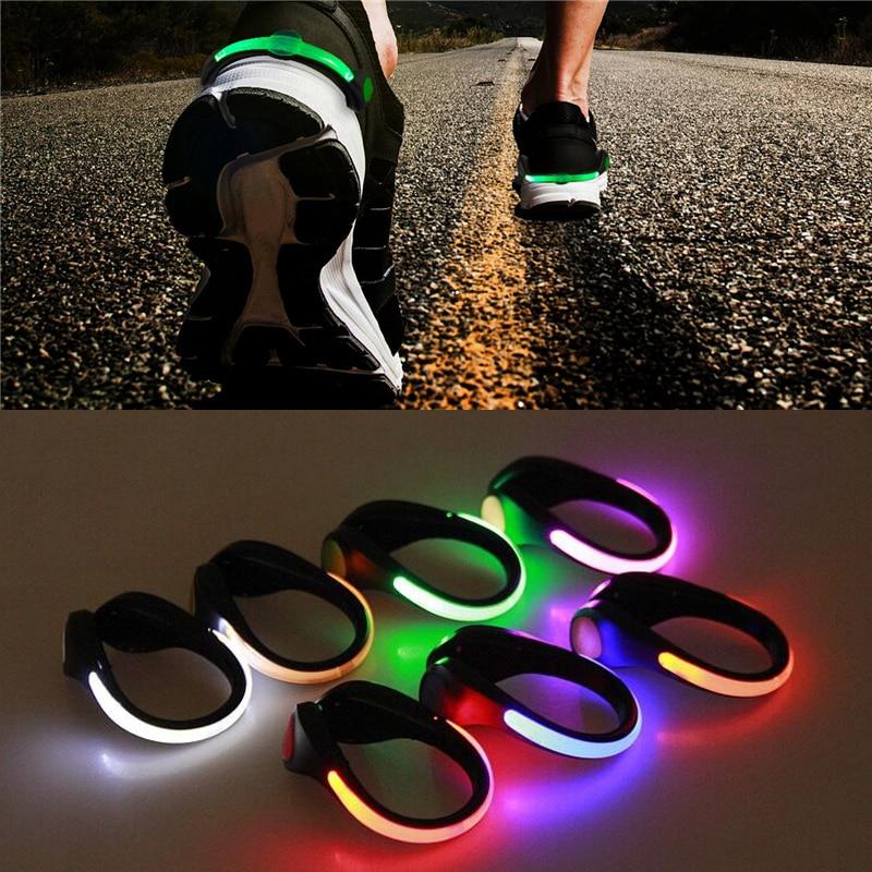 Luz para zapatos con Clip luminosa LED, novedad en iluminación RGB para bicicleta de ciclismo, luz de advertencia nocturna de seguridad que brilla en la oscuridad